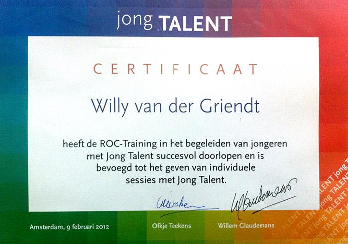 Certificaat - Jong Talent